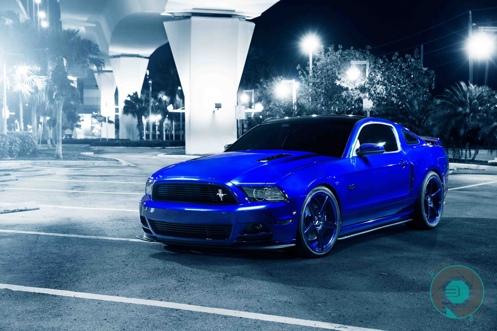 blue  ford mustang gt leale ryan